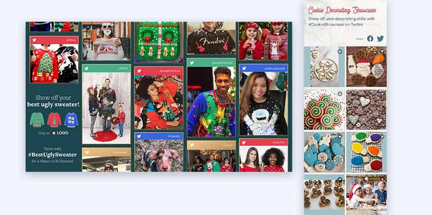 Cascading Holiday Fan Feed and Social Wall