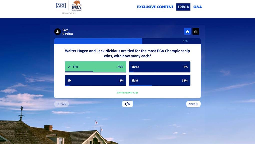 AIG PGA Trivia page