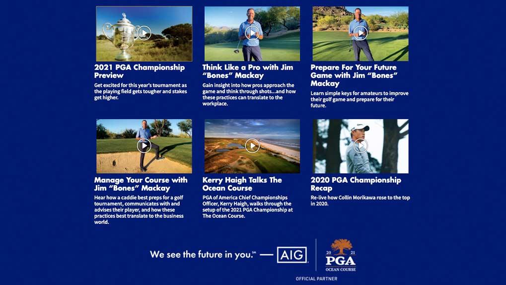 AIG PGA Video on demand