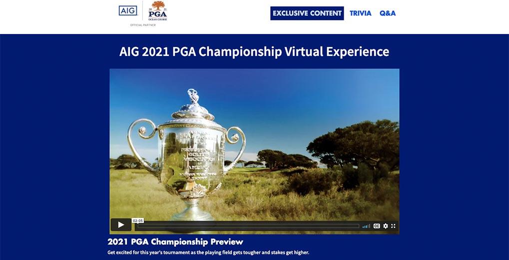 aig pga championship virtual experience landing page