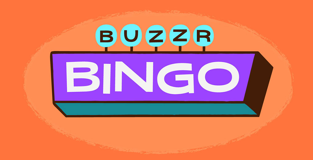 Buzzr BINGO sign with orange background