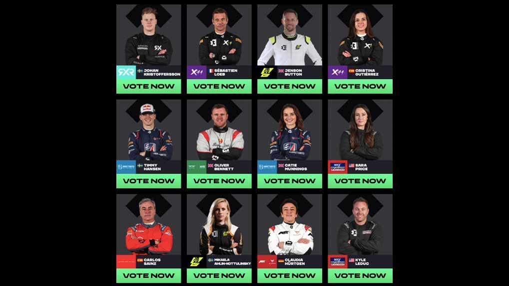 Extreme E driver contestants