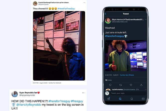 attendee tweets social wall