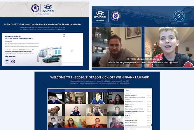 kids and Virtual Q&A with Frank Lampard