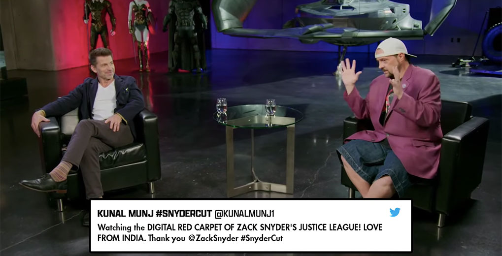zack snyder and kevin smith interview with comment to air