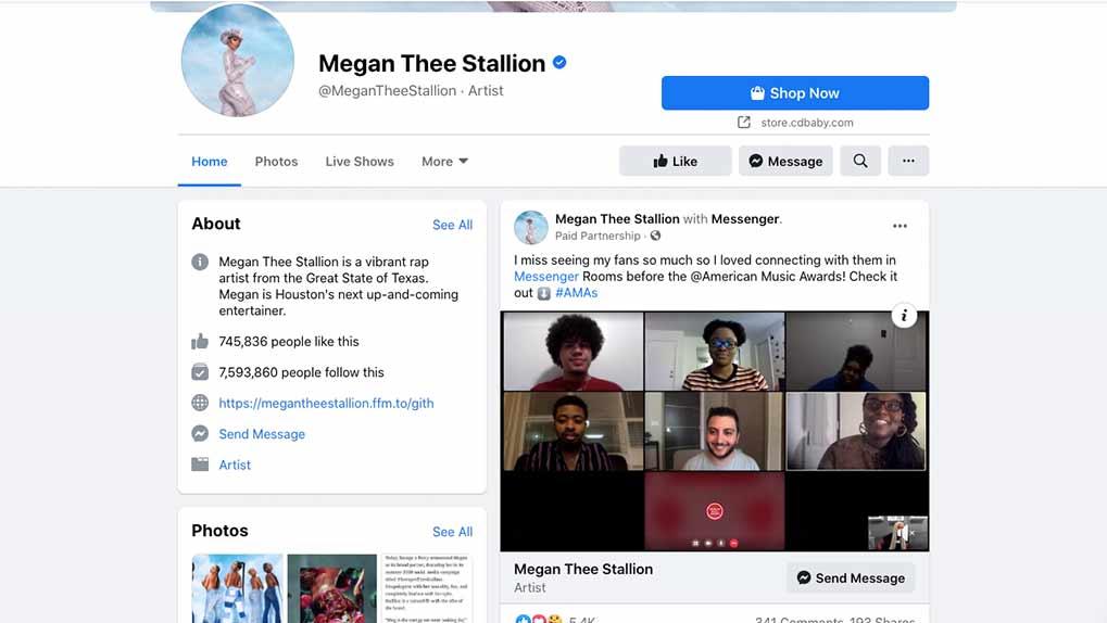 Megan FB page
