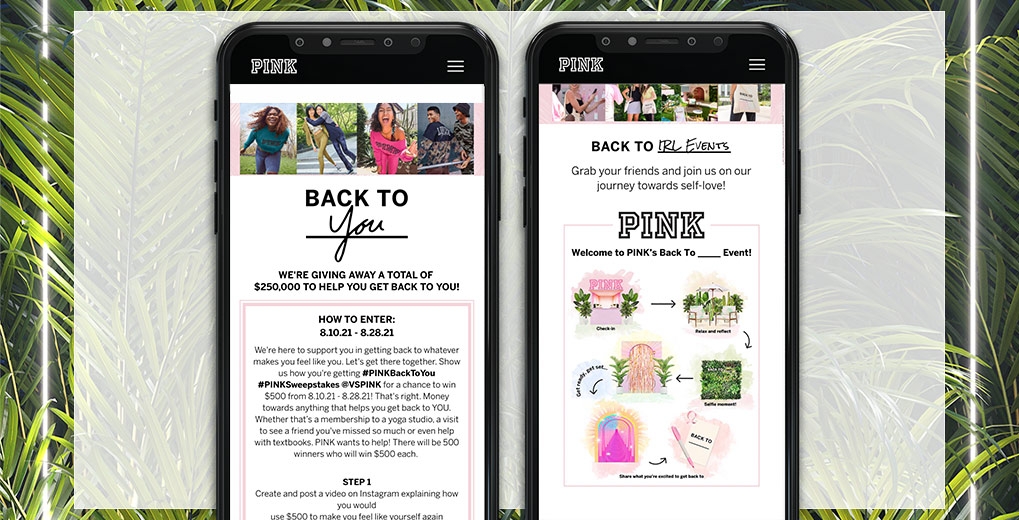 back to you landing and tour page mobile