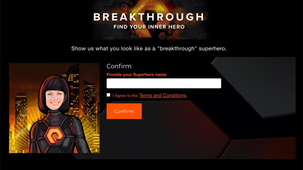 Superhero uPic confirm superhero name page