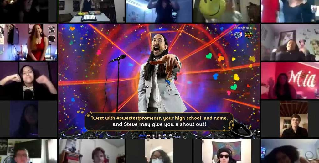 Steve Aoki with sweepstakes winners live stream