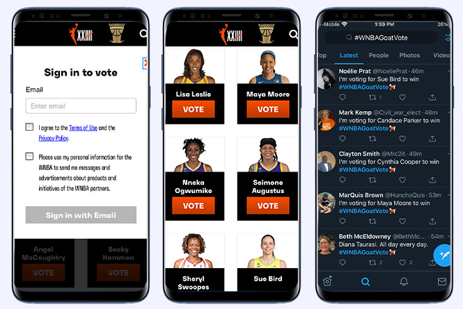 mobile vote via online and twitter