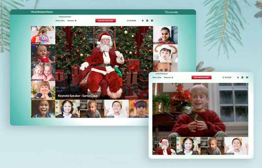 santa breakout rooms and watch along breakout rooms