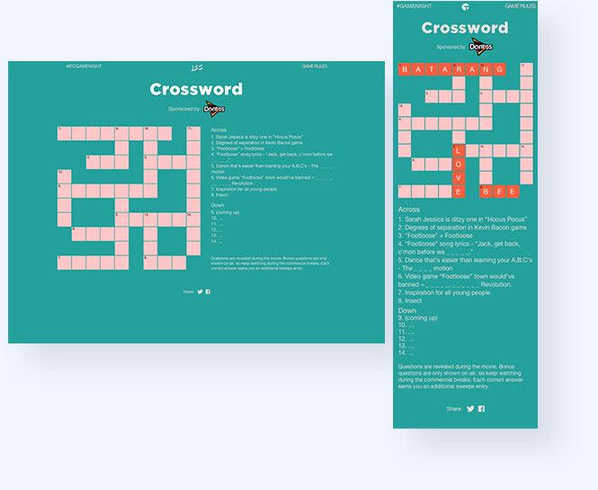 IFC Game Night Crossword puzzle