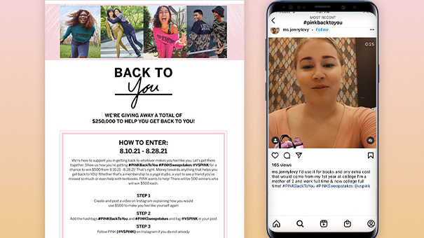 pink instagram sweepstakes