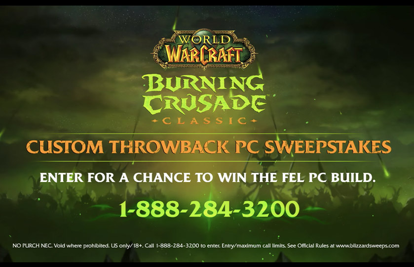 World of Warcraft Toll-Free Sweepstakes